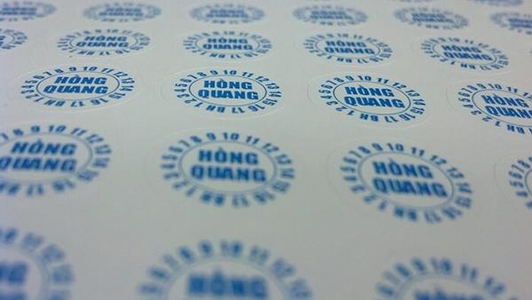 In tem bảo hành - đẹp, bền màu tại In Nhanh Bến Lức