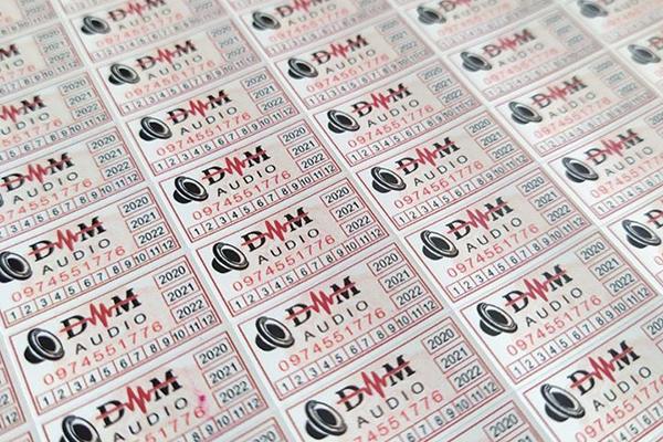 Mẫu in tem bảo hành, tem vỡ phổ biến - In Nhanh Bến Lức