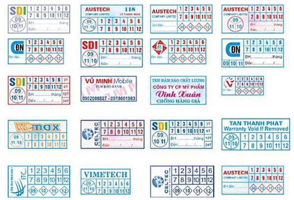 Mẫu tem bảo hành - In ấn uy tín chất lượng tại Bến Lức