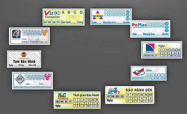 Nơi in tem bảo hành chuyên nghiệp và uy tín tại Bến Lức