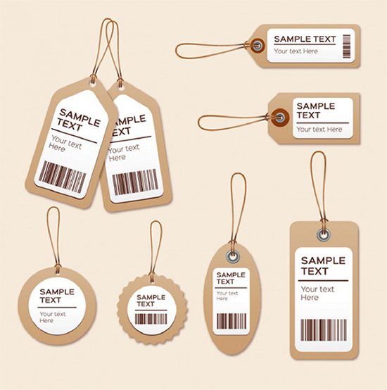 vài mẫu in thẻ treo, price tag, nhãn mác