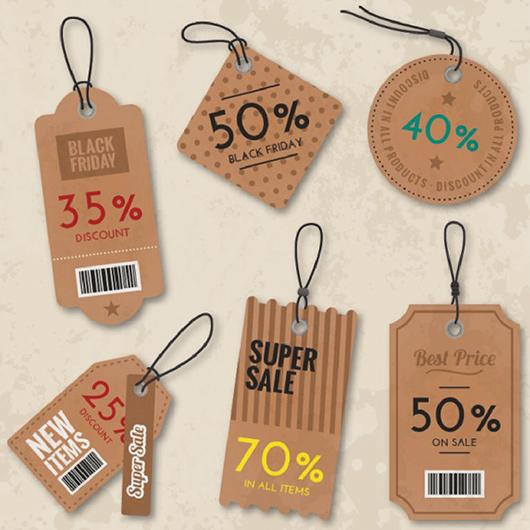 Mẫu in price tag, tag treo, thẻ treo sản phẩm